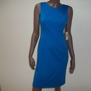 Ivanka Trump Sheath Midi Metal Accent Dress-4,NWT